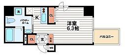 アクアプレイス北浜[9階]の間取り