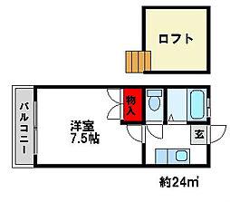 セレナーデKENⅠ ○[2階]の間取り