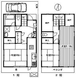 [一戸建] 東京都練馬区氷川台2丁目 の賃貸【/】の間取り