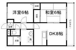 兵庫県姫路市飾磨区城南町1の賃貸マンションの間取り