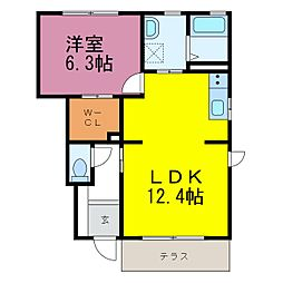 ポラリスC棟[1階]の間取り