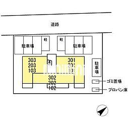 D−room東田中[1階]の外観