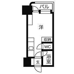 アン・セリジェ弐番館[1113号室]の間取り