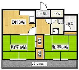 桃山和泉ハイツ[3階]の間取り