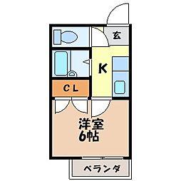 長崎県長崎市上戸町1丁目の賃貸アパートの間取り