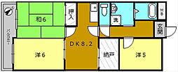 ラ・クール堺[4階]の間取り