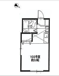 N.Y.アベニュー横浜[103号室]の間取り
