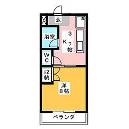 マンションフローラ[2階]の間取り