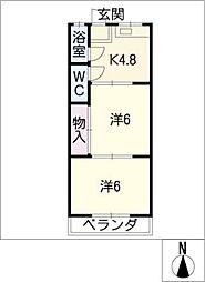 レイクビル[1階]の間取り