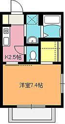 埼玉県上尾市上平中央2丁目の賃貸アパートの間取り