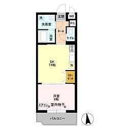 Y&M ASANUMA[1階]の間取り