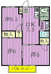 コート柳沢[203号室]の間取り