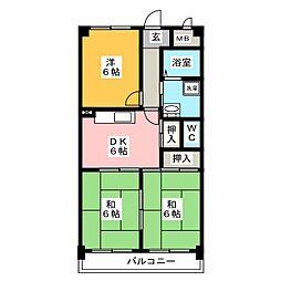 メゾンイトー[3階]の間取り