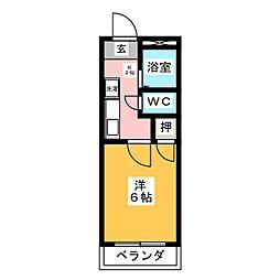 ハイツEBATA[1階]の間取り