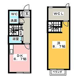 [テラスハウス] 愛知県春日井市中野町2丁目 の賃貸【/】の間取り