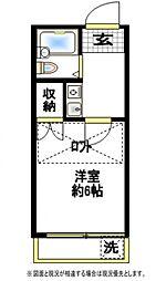 タウンコート西川口[2階]の間取り