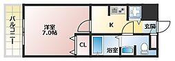 サムティ天王寺EAST[9階]の間取り
