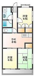 アムールヤマサ[2階]の間取り