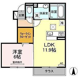 D−room南吉田(仮)[C102 号室号室]の間取り