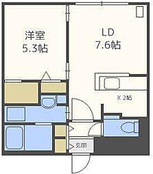 仮)クラズN6−1[4階]の間取り