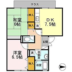 グリーンハウス新伊丹[103号室]の間取り