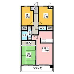 ピュア中平[2階]の間取り