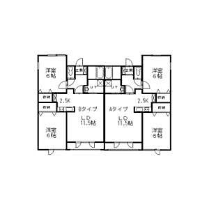 間取り,2LDK,面積56.7m2,賃料5.8万円,,,北海道釧路市新釧路町12-16