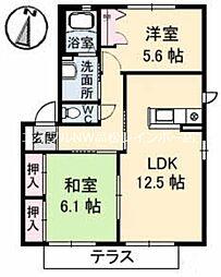 ロイヤル フェルティ C棟[1階]の間取り