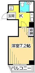 東京都国分寺市南町2丁目の賃貸マンションの間取り