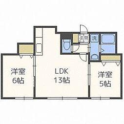 ハイドパーク512[1階]の間取り