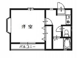 香川県高松市元山町の賃貸アパートの間取り