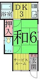 [一戸建] 千葉県流山市向小金2丁目 の賃貸【/】の間取り