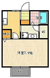 ホワイトクレイン[106号室]の間取り