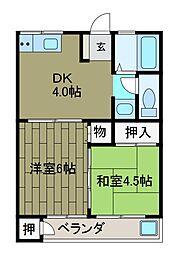 寺台ハイツ[2階]の間取り