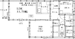 JR奥羽本線 羽前千歳駅 徒歩10分の賃貸アパート 1階1LDKの間取り