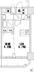 メインステージ大阪ノースマーク[10階]の間取り