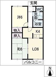 ラーバンハイツ 01[1階]の間取り