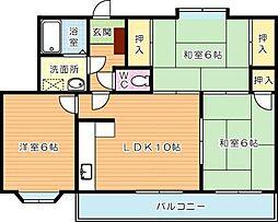 クレベール鷹の巣[4階]の間取り