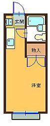 ハイツ平山[105号室]の間取り