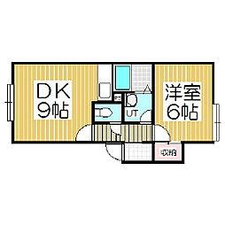 北海道苫小牧市緑町2丁目の賃貸アパートの間取り