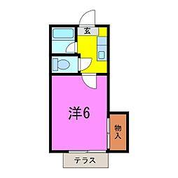 葵5号館[0105号室]の間取り