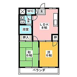 エンドレスコーポ[2階]の間取り