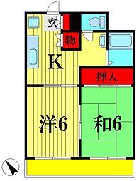 サンハウス青木[2階]の間取り
