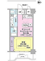 アールケープラザ横浜III[7階]の間取り