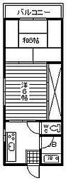 ドミール太田[201号室]の間取り
