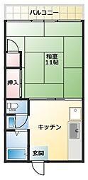 サンバロン[2階]の間取り
