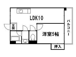 平野マンション[2階]の間取り