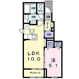La Azalea[1階]の間取り