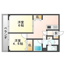 平間シティハウス[3階]の間取り