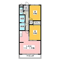 CASA・A[2階]の間取り